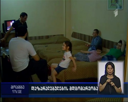 Residents of Gldani block of apartments accommodated at hotel