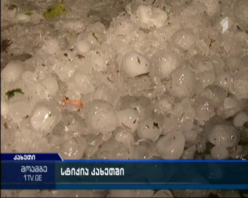Hailstorm damages vineyards in Kakheti region