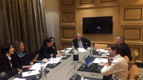 EBU representatives discussing organisational issues for Junior Eurovision in Tbilisi