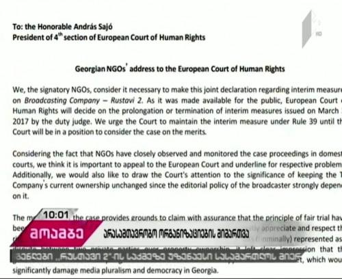 29 Georgian NGOs' address to the European Court of Human Rights