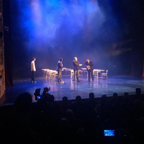 Play with participation of inmates at Rustaveli Theater
