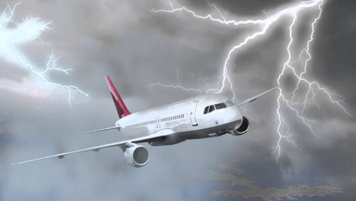 Passengers say aircraft flying from Istanbul to Tbilisi was hit by lightning