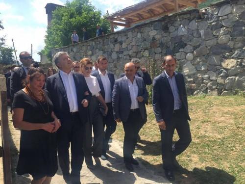 Ukrainian President visiting Mestia