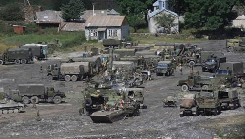 Russian military training in Georgia's occupied regions
