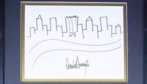 ტრამპის ნახატი 30 ათას დოლარად გაიყიდა