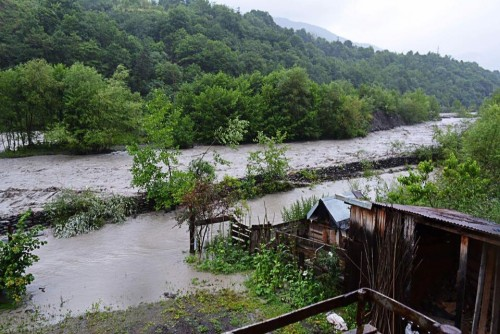 Flood in Racha region