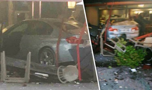 Girl killed after car plows into crowd outside French pizzeria