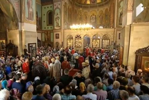 სიონის საკათედრო ტაძარში მარიამობის დღესასწაულთან დაკავშირებით საღმრთო ლიტურგია მიმდინარეობს