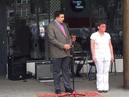Mikheil Saakashvili arrives in Poland