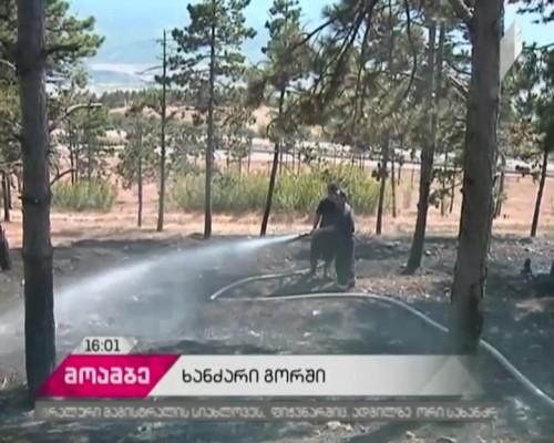 Firefighters battle two fires near Gori