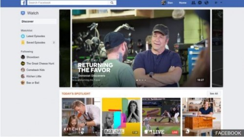 Facebook ვიდეოსერვისის დანერგვას და Youtube-თან კონკურენციას გეგმავს