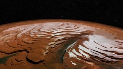 ღამით მარსზე თოვლიანი ქარბუქები მძვინვარებს - პირველი მტკიცებულება