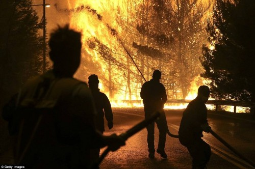Greece seeks EU help as wildfires rage