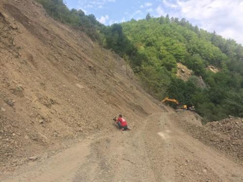 Road cleaning works resume in Racha