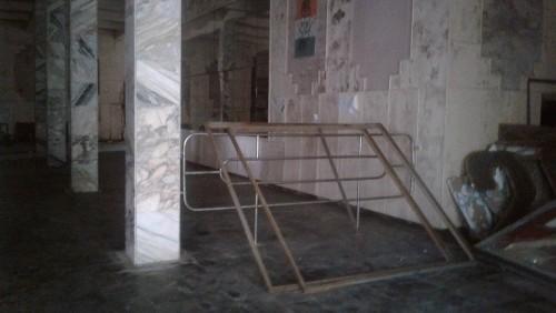 ცესკო - ოზურგეთის #6 საუბნო საარჩევნო კომისიის შენობაში შემტვრეულია კარი, დაზიანებულია ინვენტარი და ჩამოხეულია  ამომრჩეველთა სია