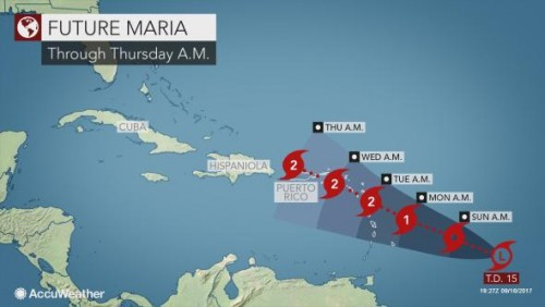 Al Jazeera: Tropical Storm Maria heads towards the Caribbean