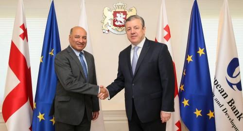 საქართველოს პრემიერ-მინისტრი EBRD-ის პრეზიდენტს შეხვდა