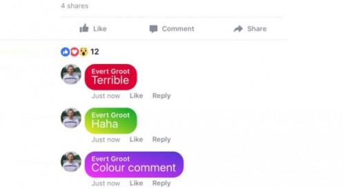 ფეისბუქზე მალე ფერადი კომენტარები გამოჩნდება