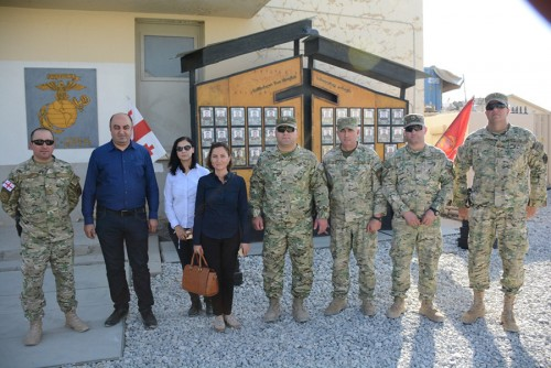 Ombudsman visits Georgian soldiers in Afghanistan
