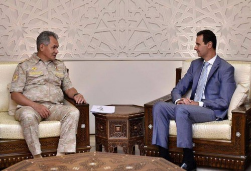 Russian Defense Minister met Assad in Damascus