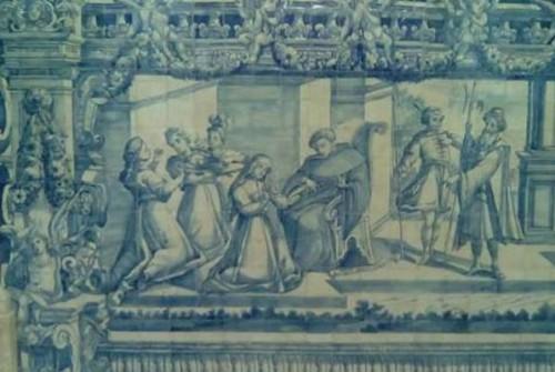 ლისაბონის გრასას ეკლესიაში ქეთევან დედოფლის წამების ამსახველი XVIII საუკუნის პანოს რესტავრაცია დასრულდა