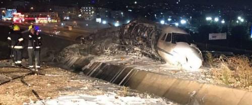 სტამბოლში, ათათურქის სახელობის აეროპორტში კერძო თვითმფრინავმა კატასტროფა განიცადა