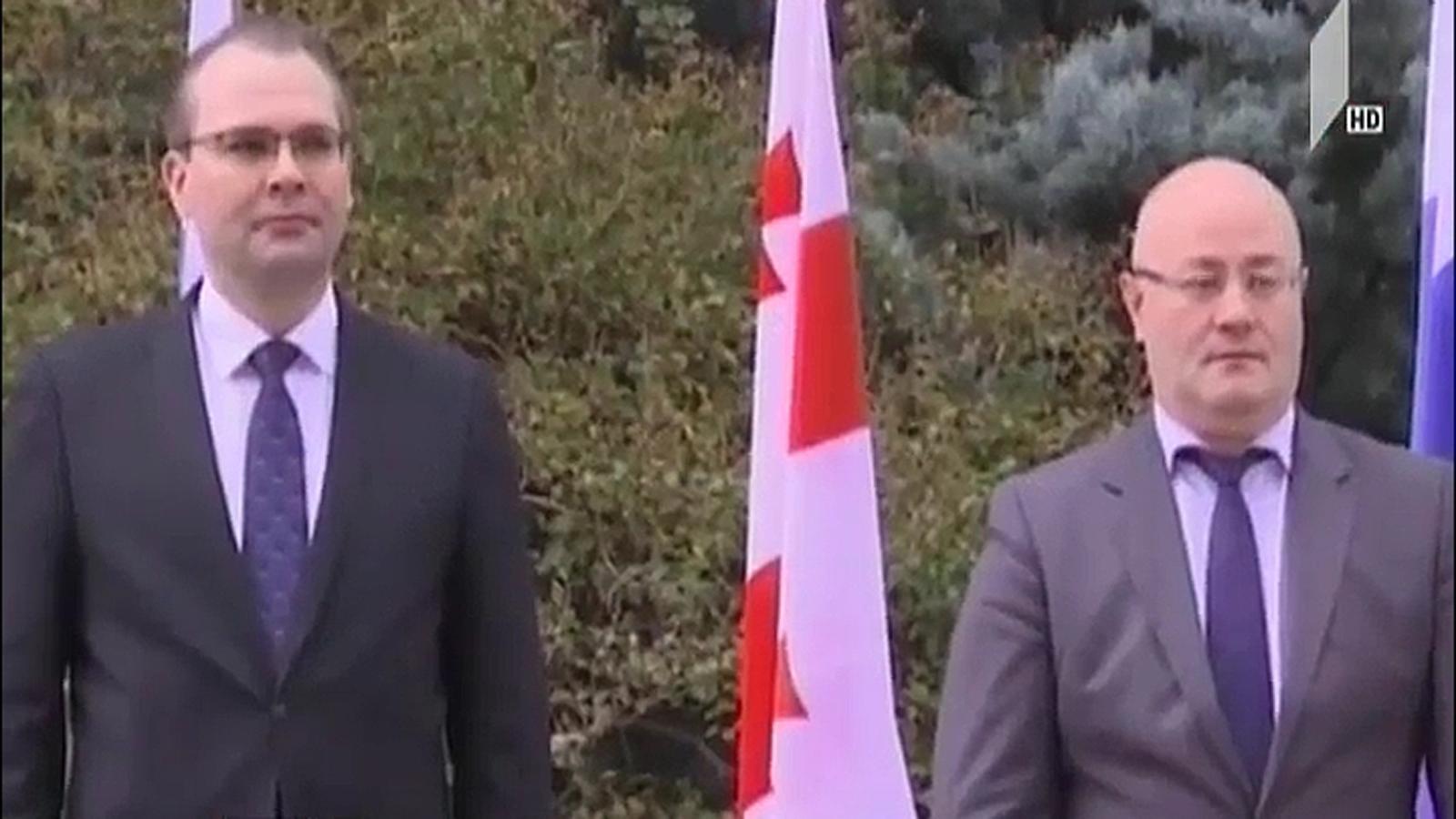საქართველოში ფინეთის თავდაცვის მინისტრი იმყოფება