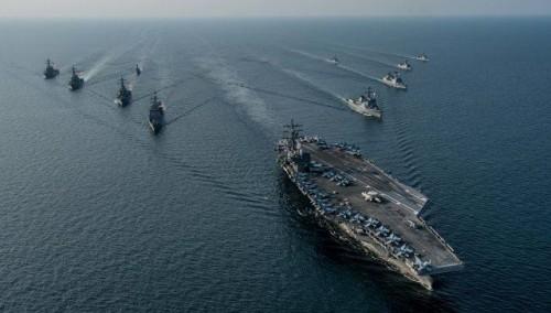 აშშ-მა და სამხრეთ კორეამ ერთობლივი სამხედრო-საზღვაო სწავლება დაიწყეს