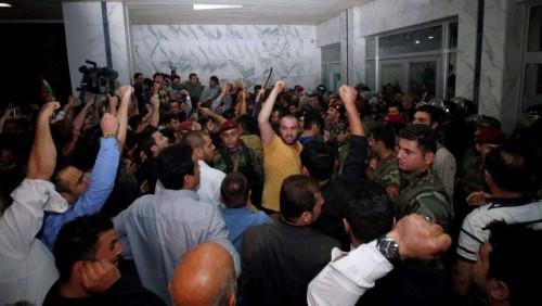 """ერაყის ქალაქ ერბილში """"პეშმერგას"""" ქურთული შენაერთების მებრძოლები პარლამენტის შენობაში შეიჭრნენ"""