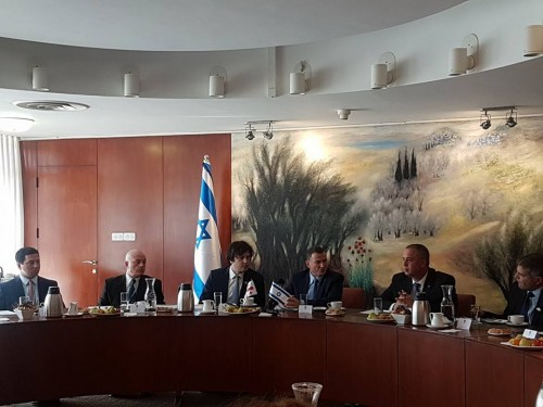 Chairman of parliament continues visit in Israel