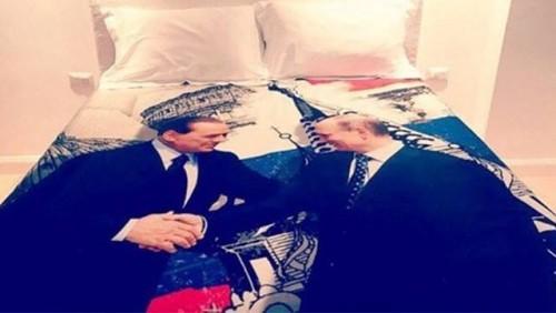 იტალიის ყოფილმა პრემიერმა სილვიო ბერლუსკონიმ ვლადიმერ პუტინს საბნის შალითა აჩუქა