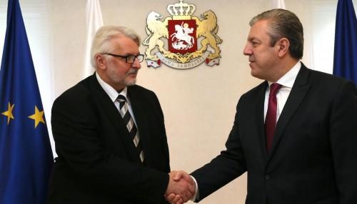 საქართველოს პრემიერ-მინისტრი პოლონეთის რესპუბლიკის საგარეო საქმეთა მინისტრს შეხვდა