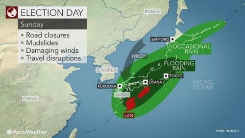 """იაპონიას ტაიფუნი """"ლანი"""" უახლოვდება"""