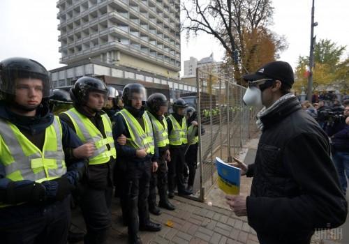 კიევში მიხეილ სააკაშვილის მიერ ორგანიზებულ აქციაზე დემონსტრანტებსა და პოლიციას შორის დაპირისპირება მოხდა