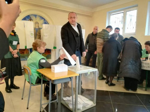 President casts ballot