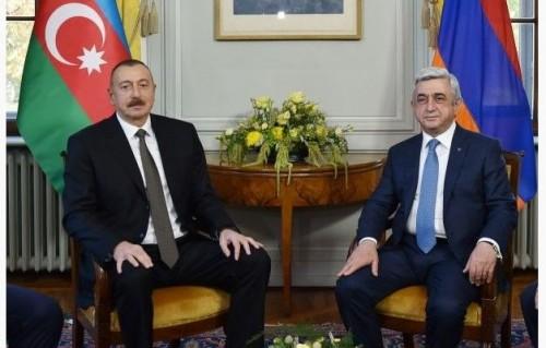 აზერბაიჯანისა და სომხეთის პრეზიდენტები ჟენევაში ერთმანეთს შეხვდნენ