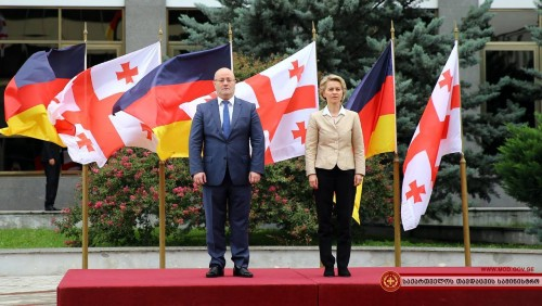 Germany's Defence Minister pays a visit to Georgia