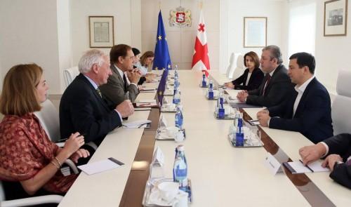 პრემიერ-მინისტრი NDI-ის სადამკვირვებლო მისიას შეხვდა