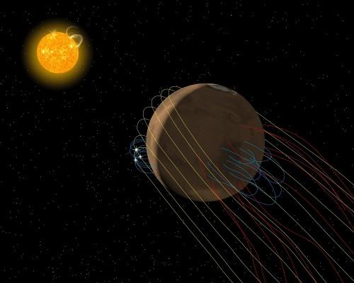 NASA-მ მარსის უზარმაზარი, დაკლაკნილი მაგნიტური კუდი აღმოაჩინა