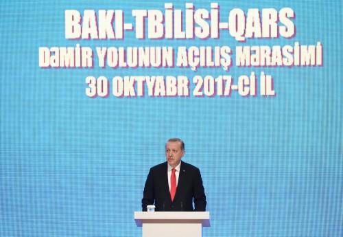 რეჯეფ ტაიპ ერდოღანი - ბაქო-თბილისი-ყარსის პროექტი აერთიანებს არა მხოლოდ აზერბაიჯანს, საქართველოსა და თურქეთს, არამედ ევროპასა და აზიას