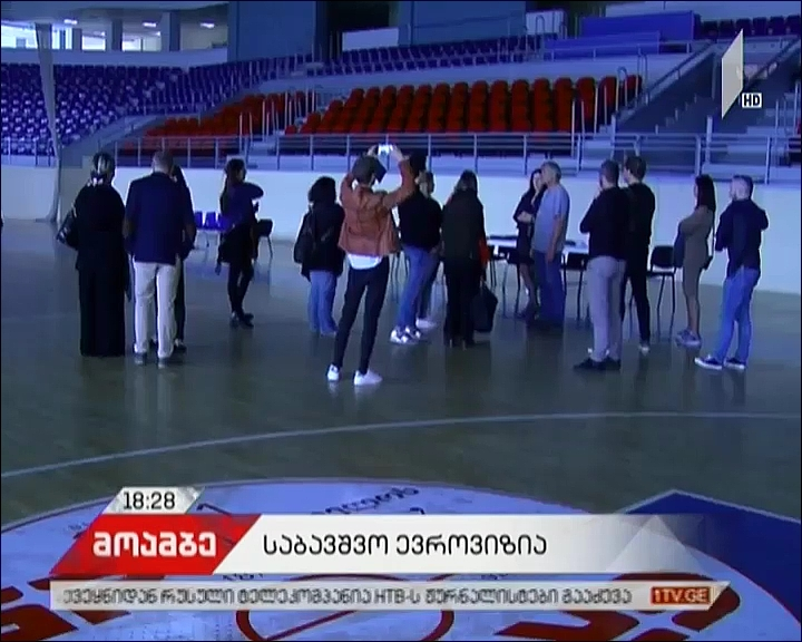 Organizational Group of 2017 JESC visited Tbilisi Olympic Palace
