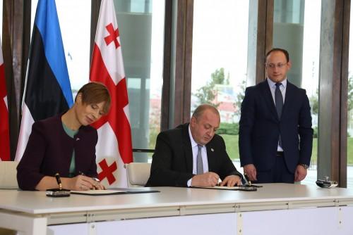 საქართველოსა და ესტონეთის პრეზიდენტებმა ერთობლივ დეკლარაციას მოაწერეს ხელი