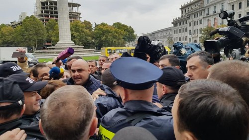 Two persons detained at National Movement rally