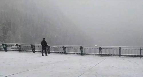 ოკუპირებულ აფხაზეთში თოვლმა და წვიმებმა პრობლემები შექმნა