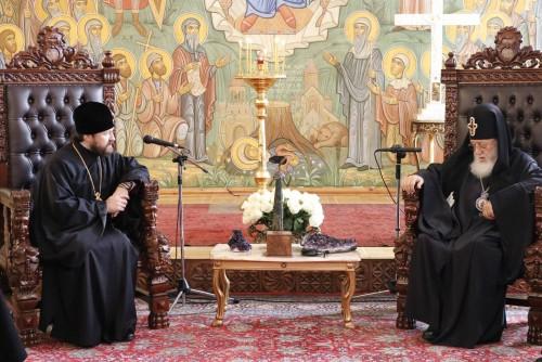 საქართველოს კათოლიკოს-პატრიარქს რუსეთის ეკლესიის საგარეო საქმეთა განყოფილების ხელმძღვანელი შეხვდა