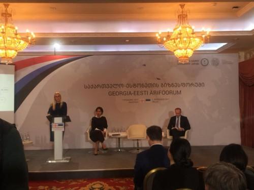 თბილისში საქართველო-ესტონეთის ბიზნესფორუმი მიმდინარეობს