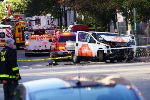 რვა დაღუპული და 15 დაშავებული - მანჰეტენზე თავდასხმას პოლიცია, ამ ეტაპზე, ტერორისტულ აქტად განიხილავს