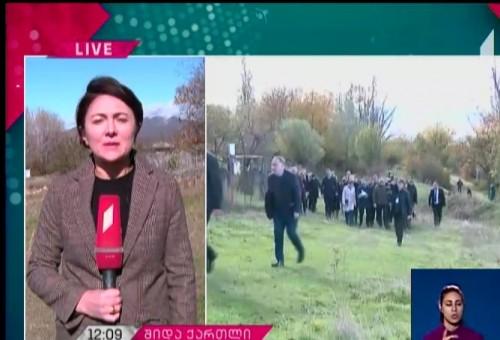 ესტონეთის პრეზიდენტი ხურვალეთში, საოკუპაციო ხაზთან არსებულ ვითარებას ეცნობა
